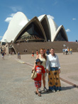 The Granger children in front of the Sydney Opera House