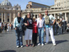 The Granger family in Rome